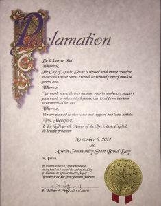 Awards - Proclamation